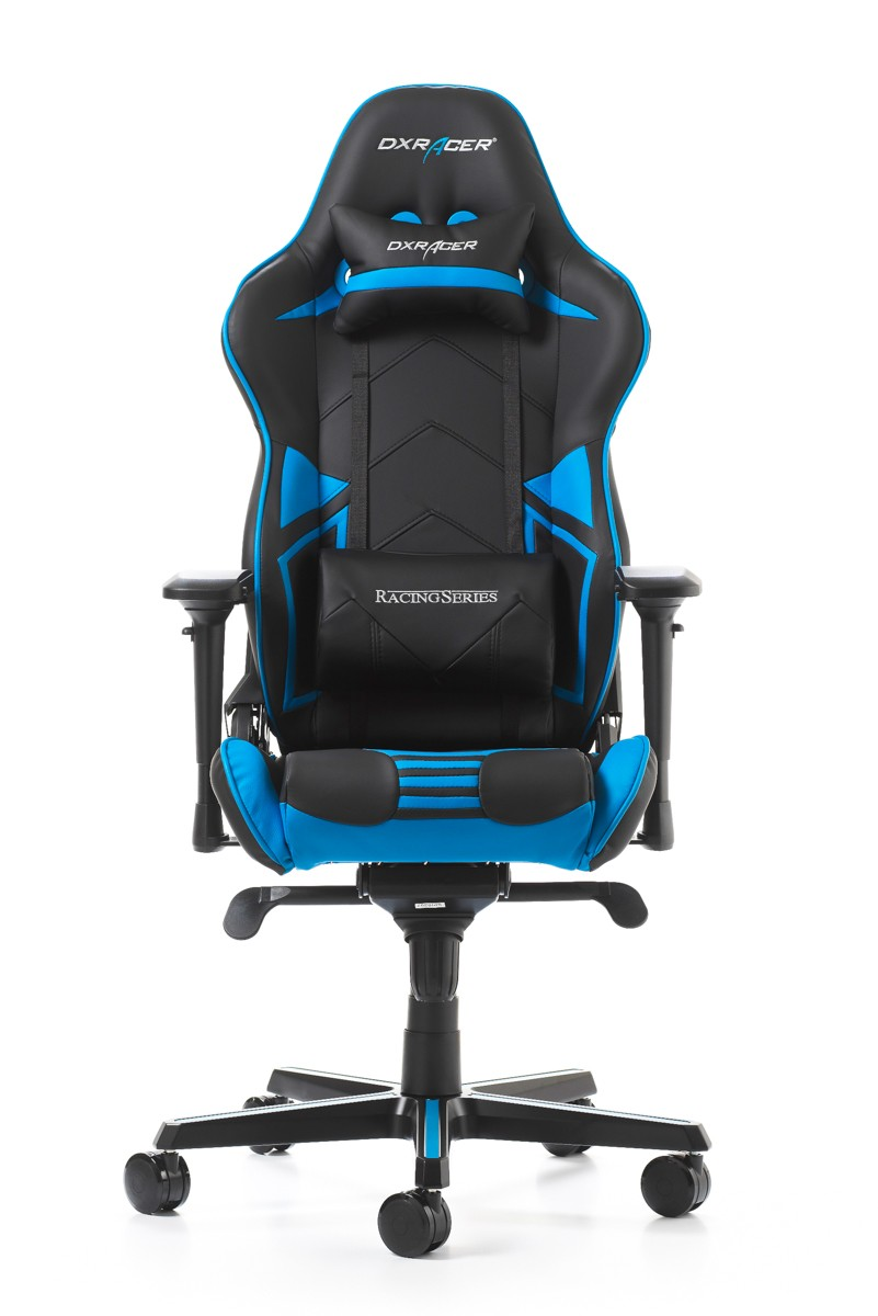 Silla DxRacer Racing Pro Series - Negro/Azul (RV131-NB)