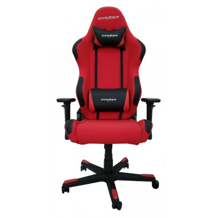 Silla DxRacer Racing Textil Series - Rojo/Negro