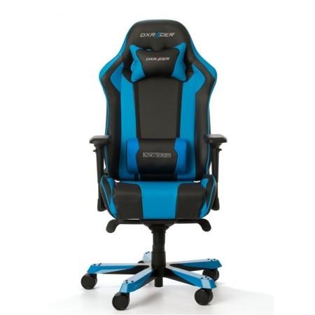 Silla DxRacer King Series - Negro/Azul- - Outlet AGS - Solo CABA (resto del país consultar)